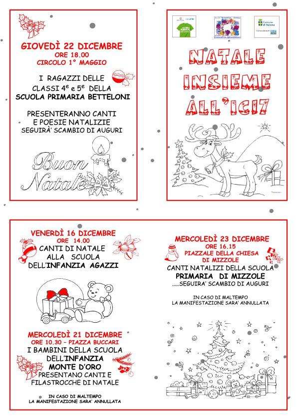 Poesie Di Natale Per Scuola Infanzia.Natale Scuola Infanzia Monte D Oro Www Montorioveronese It