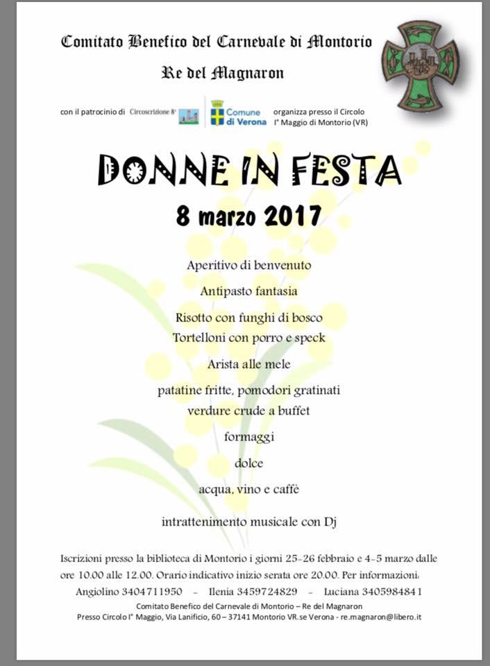 Donne in Festa @ Circolo I° Maggio | Montorio | Italia