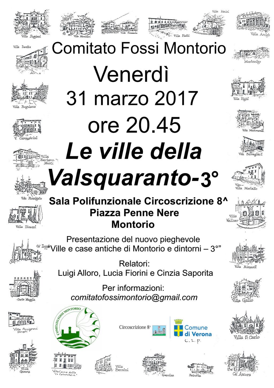 Le Ville della Valsquaranto 3° @ Sala Giovanni Paolo II | Montorio | Veneto | Italia