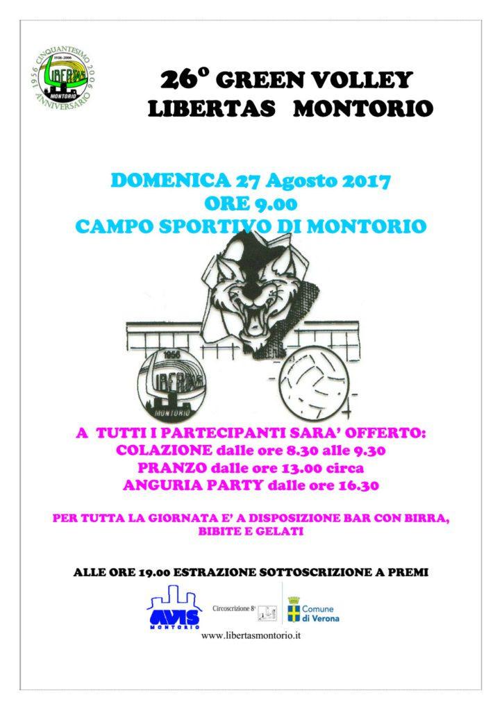 26° Green Volley Libertas Montorio @ Green Volley - Campo sportivo Montorio Veronese | Montorio | Veneto | Italia