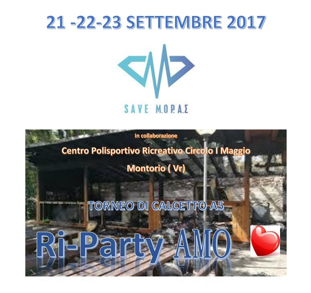Ri-party-amo Torneo di calcetto a 5 giocatori @ Circolo I° Maggio | Montorio | Veneto | Italia