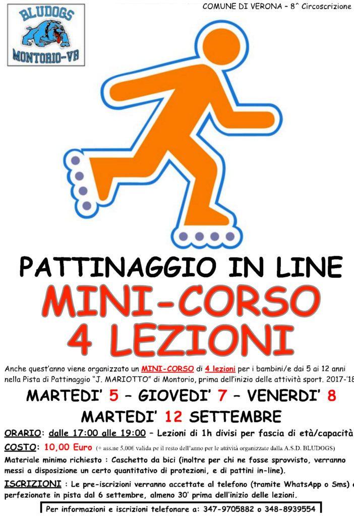 Inizio mini Corso Pattinaggio in-line dal 05/09 al 12/09 @ Pista polivalente | Montorio | Veneto | Italia