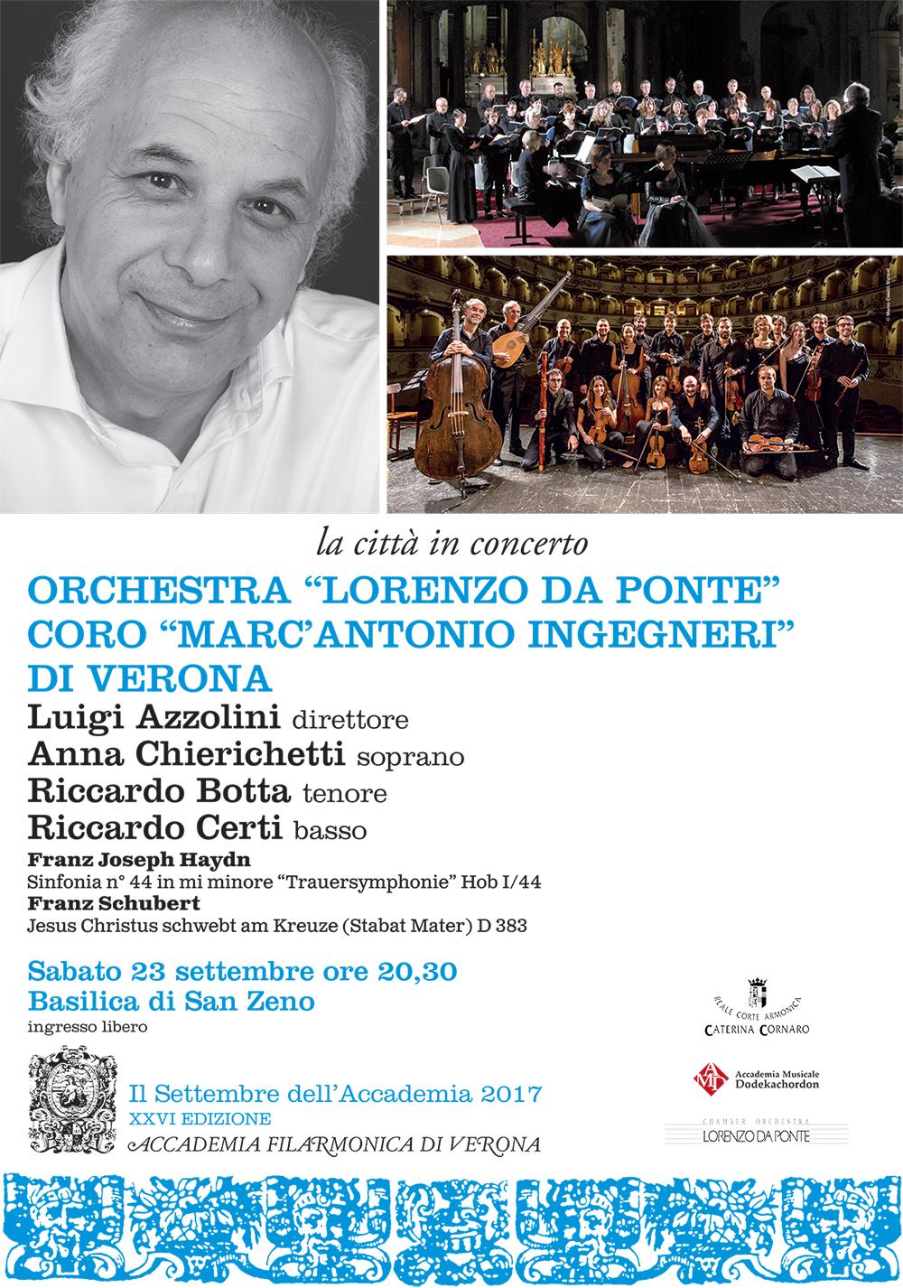 "Coro ""Marc'Antonio Ingegneri"": Franz Schubert, Stabat Mater D383 @ Verona | Verona | Veneto | Italia"