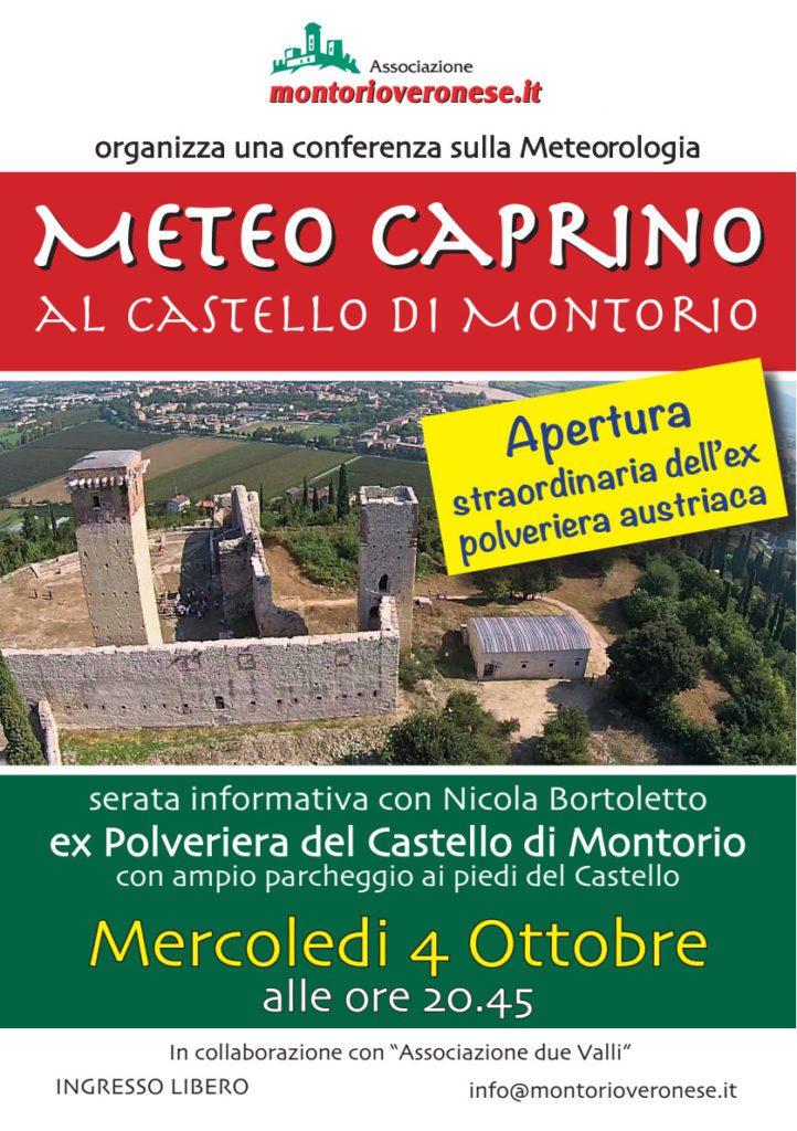 Serata meteo in Polveriera @ Castello di Montorio | Montorio, Verona | Veneto | Italia