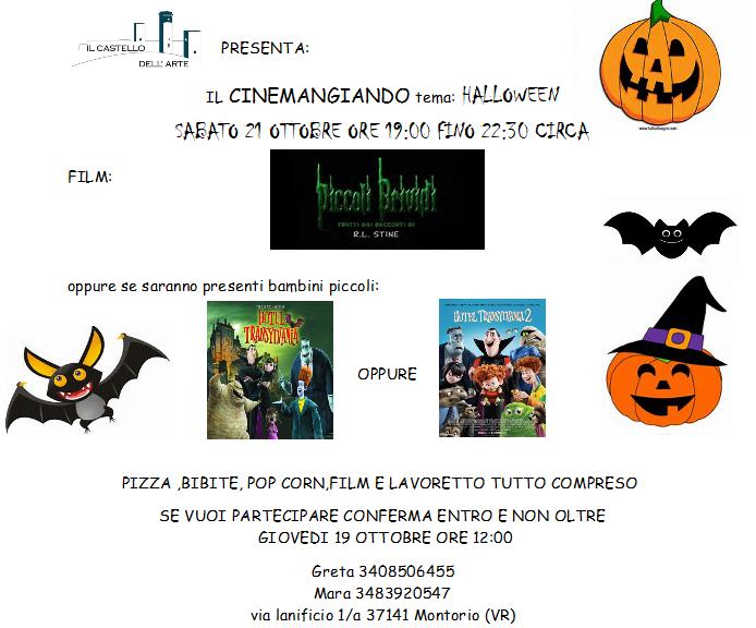 Cinemangiando tema: Halloween @ Castello dell'Arte - Montorio | Montorio | Veneto | Italia