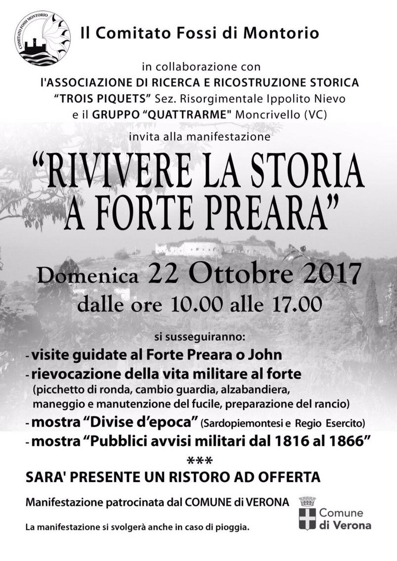 Rivivere la storia a Forte Preara @ Forte Preara | Montorio, Verona | Veneto | Italia