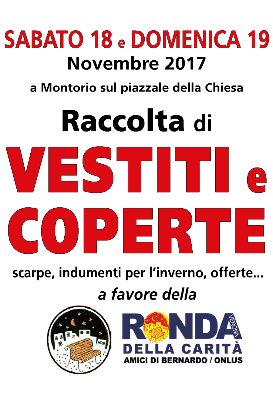Raccolta coperte Ronda della Carità @ Piazzale della Chiesa | Montorio | Veneto | Italia