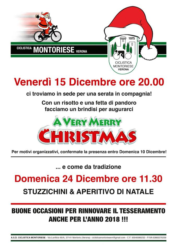 Ciclistica Montoriese: aperitivo di Natale @ Sede Ciclistica Montoriese | Montorio | Veneto | Italia
