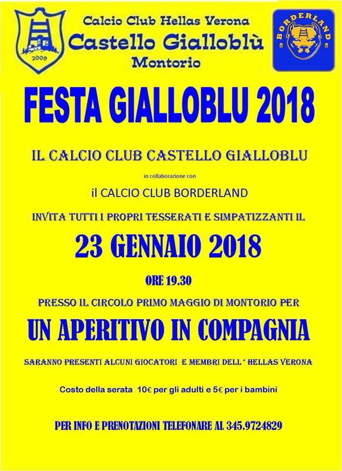 Festa Gialloblù - Aperitivo 2018 @ Circolo I° Maggio   Montorio   Veneto   Italia
