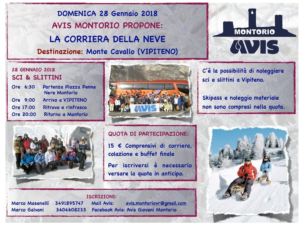 AVIS - Corriera della neve 2017 @ Partenza da Piazza delle Penne Nere | Montorio | Veneto | Italia