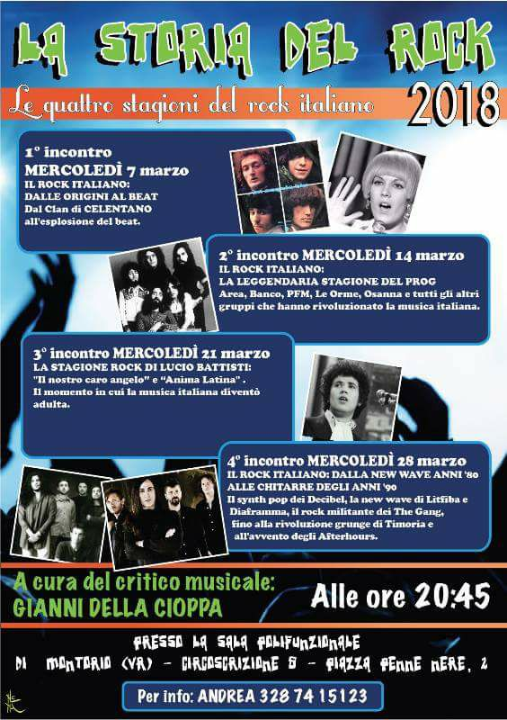 La Storia del Rock @ Sala Giovanni Paolo II - Montorio | Montorio | Veneto | Italia