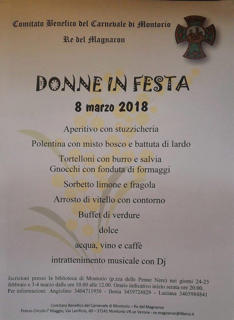 Donne in festa 2018 @ Circolo I° Maggio | Montorio | Veneto | Italia