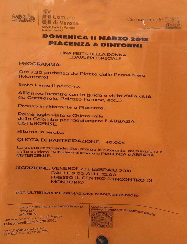 Gita a Piacenza e dintorni @ Montorio Veronese | Montorio | Veneto | Italia