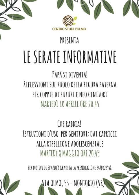Centro Studi L'Olmo - Serate informative @ Centro Studi L'Olmo | Montorio | Veneto | Italia