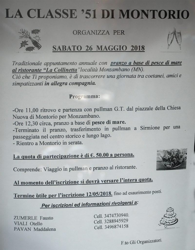 Classe 1951 in festa @ Partenza da Montorio Veronese | Montorio | Veneto | Italia