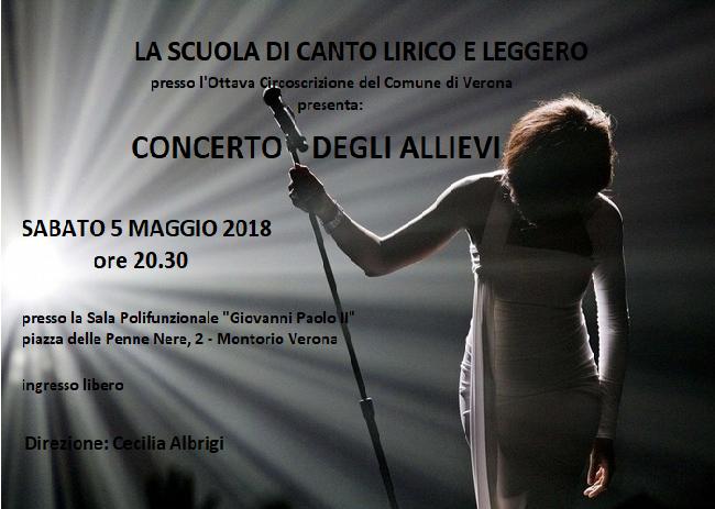 Scuola di canto 2017 - 2018 - Saggio finale @ Scuola di Canto | Montorio | Veneto | Italia