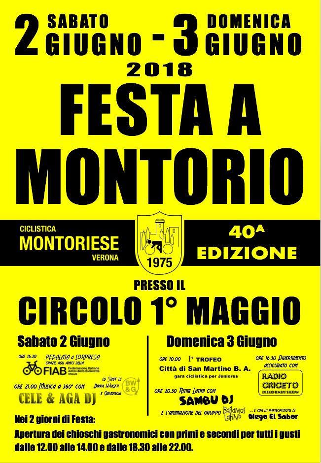 40° festa U.C. Montoriese @ Circolo I° Maggio | Montorio | Veneto | Italia