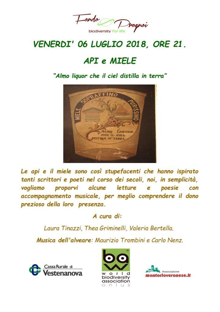 Api e Miele - Fondo Prognoi @ Fondo Prognoi | Verona | Veneto | Italia