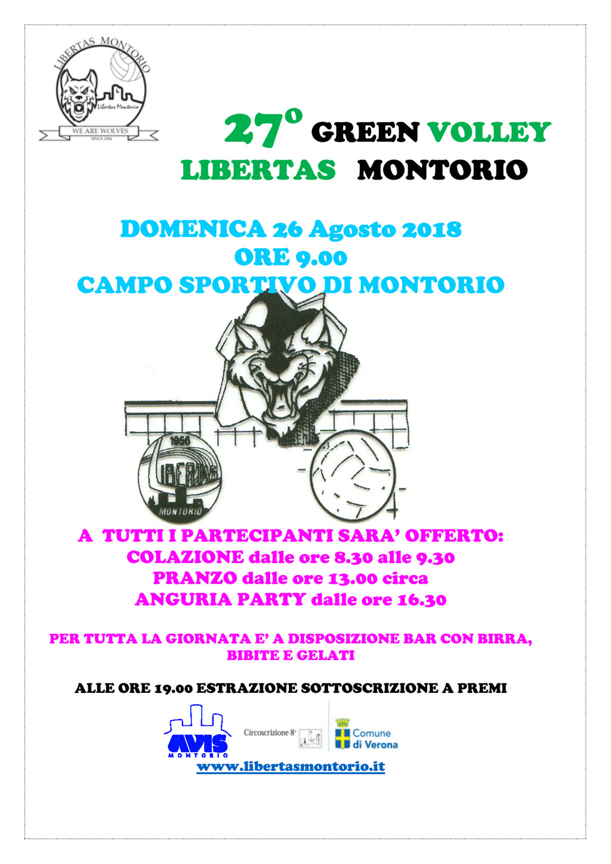 27° Green Volley Libertas Montorio @ Campo Sportivo Montorio | Montorio | Veneto | Italia