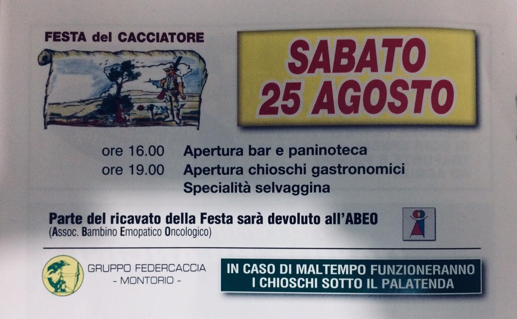 Festa del Cacciatore @ Circolo I° Maggio | Montorio | Veneto | Italia