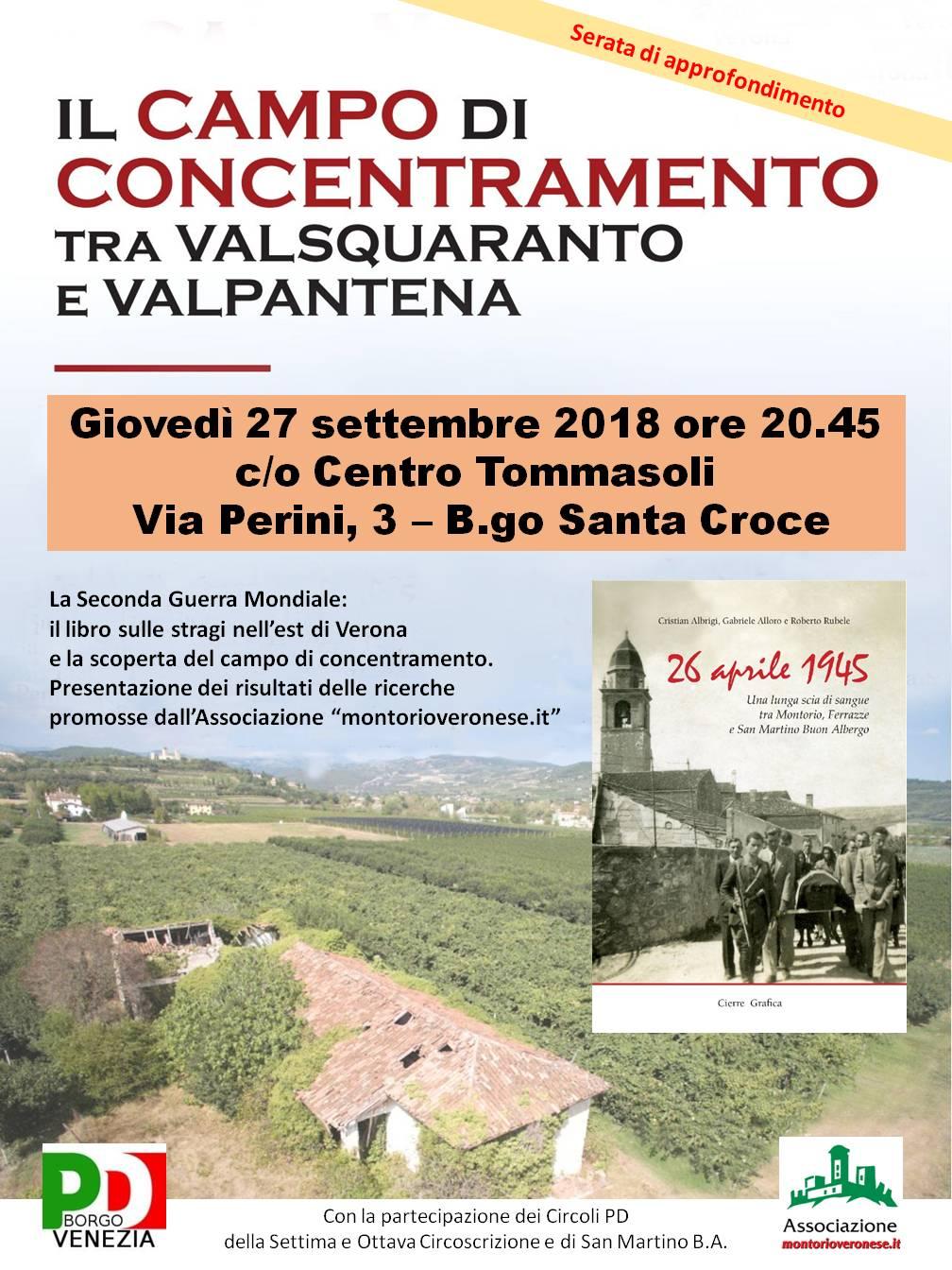 26 aprile 1945 - Serata di approfondimento al Centro Tommasoli @ Centro Tommasoli | Verona | Veneto | Italia