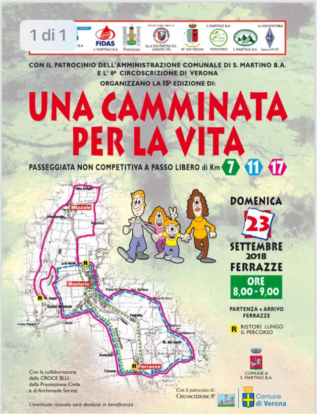 Una camminata per la vita 2018 @ Una Camminata per la Vita | Ferrazze | Veneto | Italia