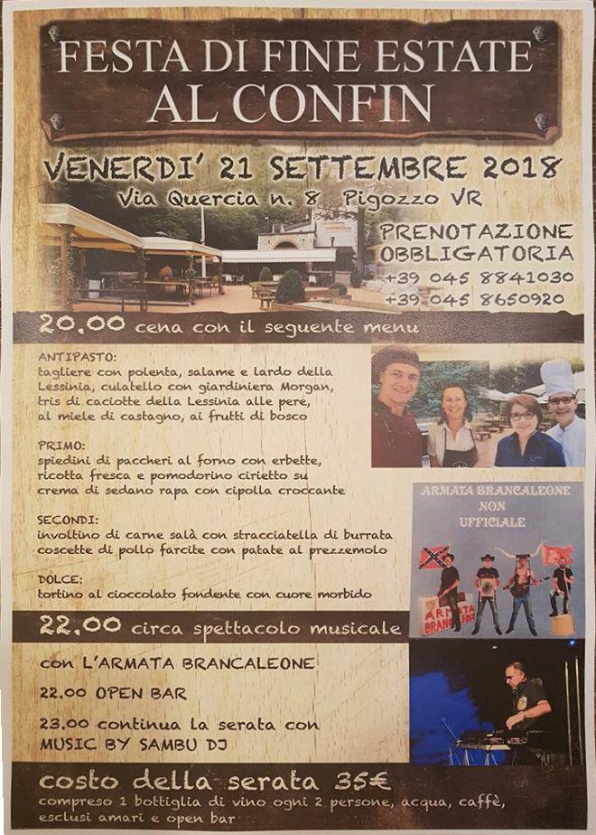 Festa di fine estate al Confin @ Al Confin | Veneto | Italia