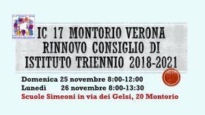 IC 17 Rinnovo Consiglio di Istituto 2018-2021 @ Scuole Simeoni Montorio | Verona | Veneto | Italia