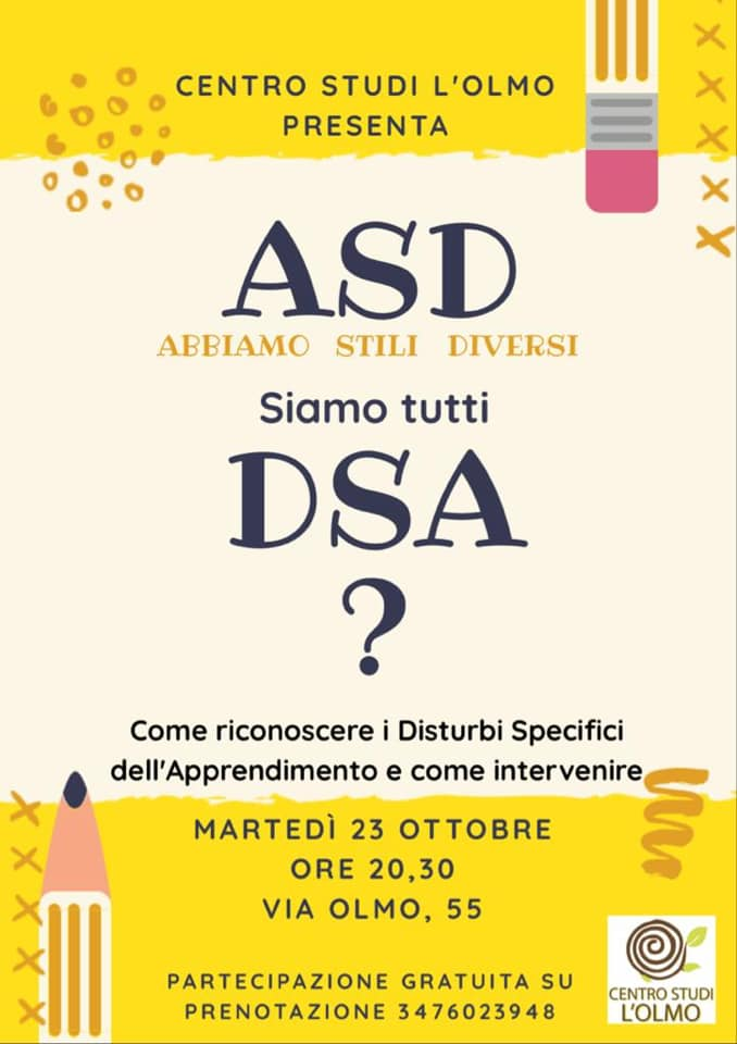 Centro Studi L'Olmo - Abbiamo Stili Diversi - DSA @ Centro Studi L'Olmo | Verona | Veneto | Italia