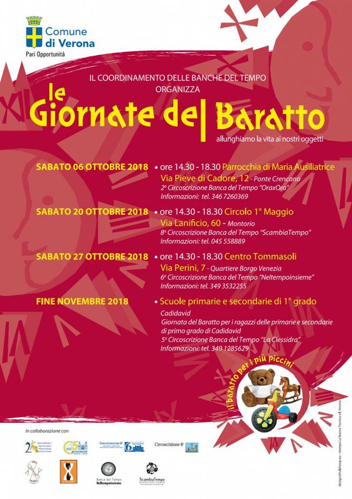 Le giornate del Baratto 2018 @ Circolo I° Maggio | Montorio | Veneto | Italia