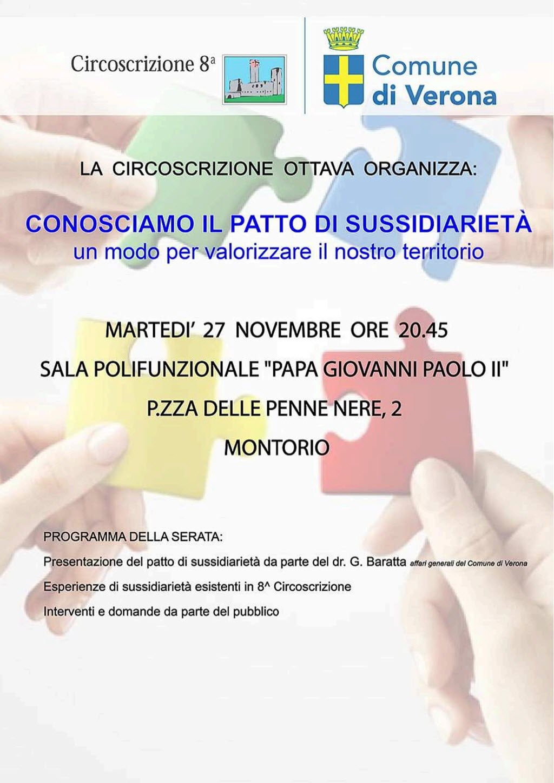 Il patto di sussidiarietà - Serata informativa @ Sala Giovanni Paolo II   Montorio   Veneto   Italia