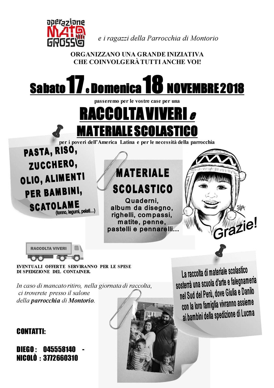 Raccolta viveri e materiale scolastico @ Montorio Veronese | Montorio | Veneto | Italia