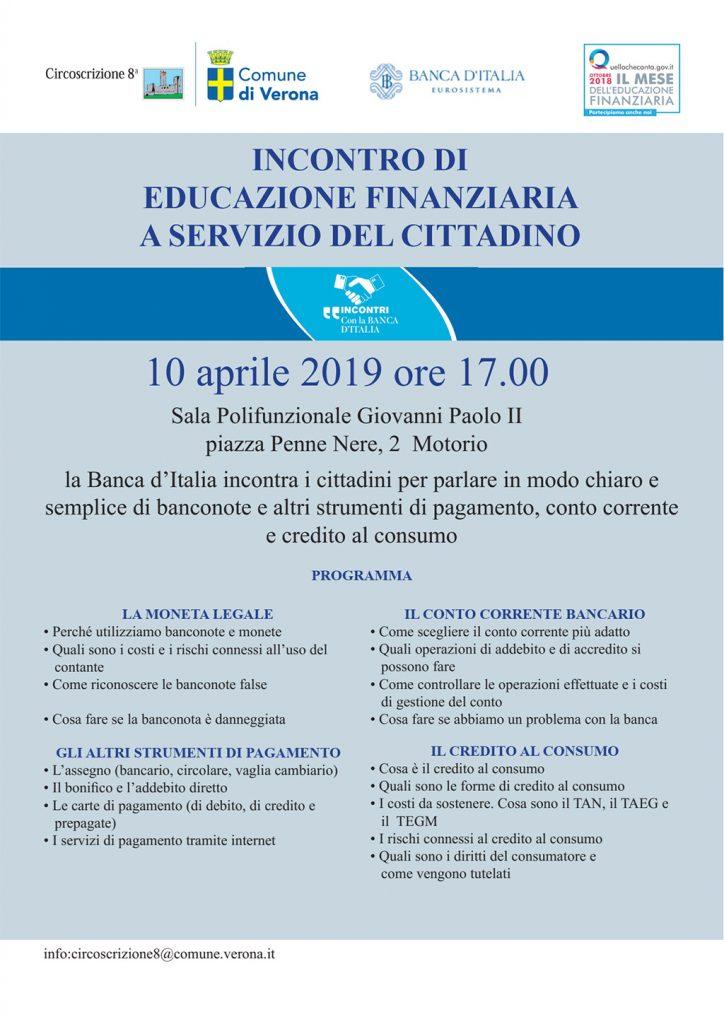 Incontro di educazione finanziaria a servizio del cittadino @ Sala Giovanni Paolo II - Montorio | Montorio | Veneto | Italia