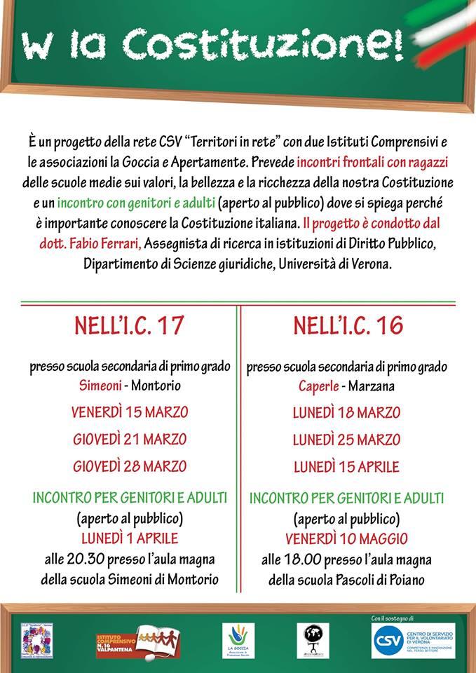 W la Costituzione @ Scuole Simeoni - aula magna | Montorio | Veneto | Italia