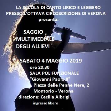 Scuola di canto 2018 - 2019 - Saggio finale @ Sala Giovanni Paolo II | Montorio | Veneto | Italia