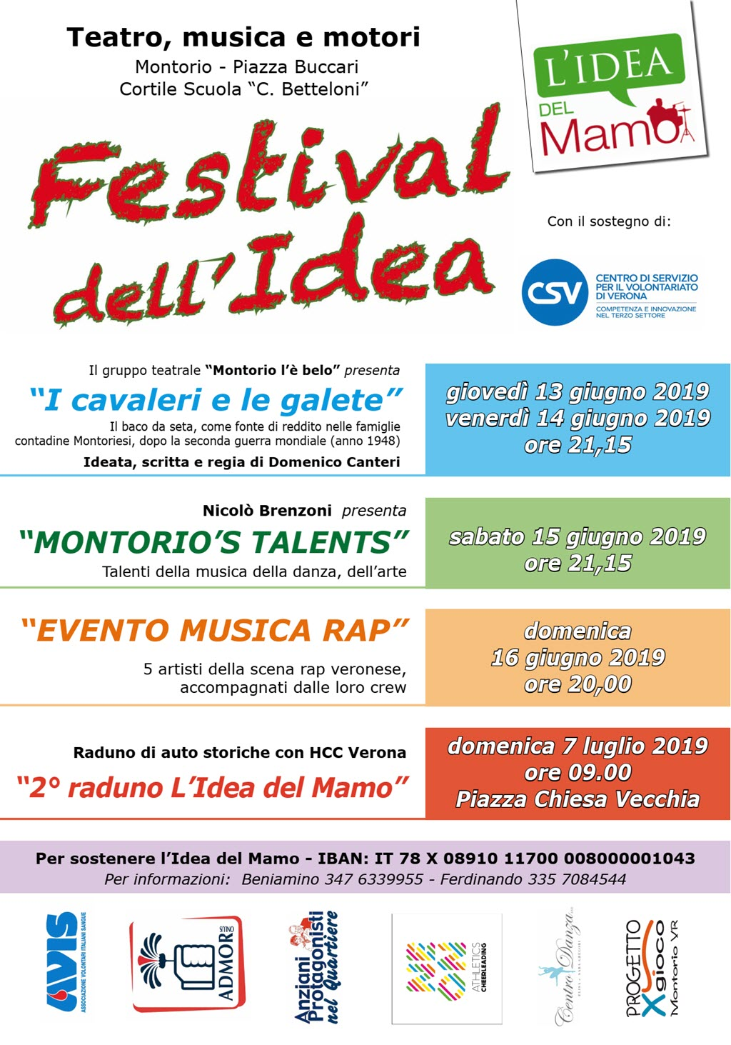Festival dell'Idea 2019 @ Cortile scuole Betteloni a Montorio | Verona | Veneto | Italia