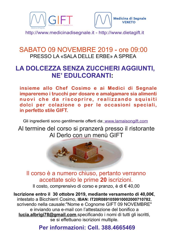 Corso di cucina GIFT sui dolci @ Ristorante Al Derlo - Sprea | Sprea | Italia