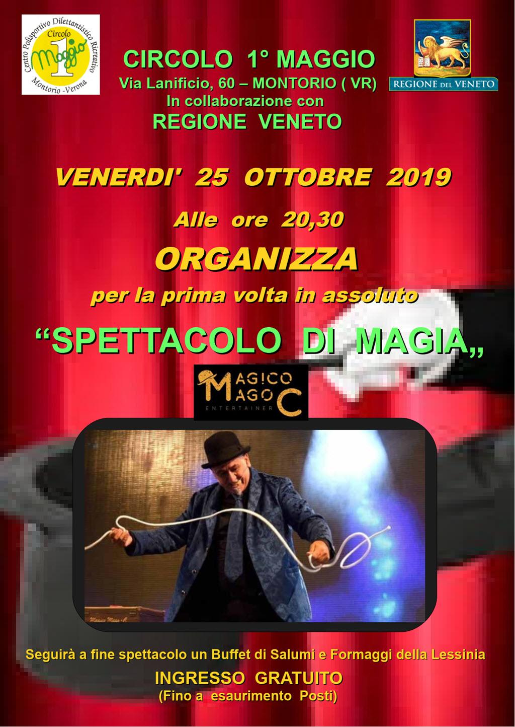 Spettacolo di magia @ Circolo I Maggio | Montorio | Veneto | Italia