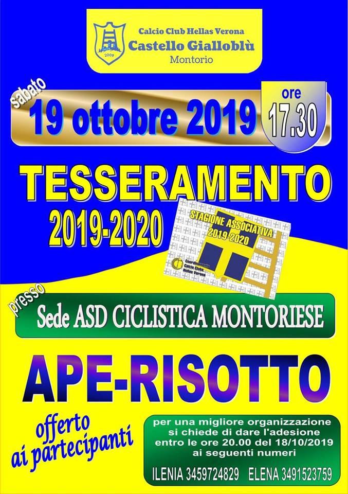 Tesseramento Calcio Club Castello Gialloblù @ Sede Ciclistica Montoriese | Montorio | Veneto | Italia