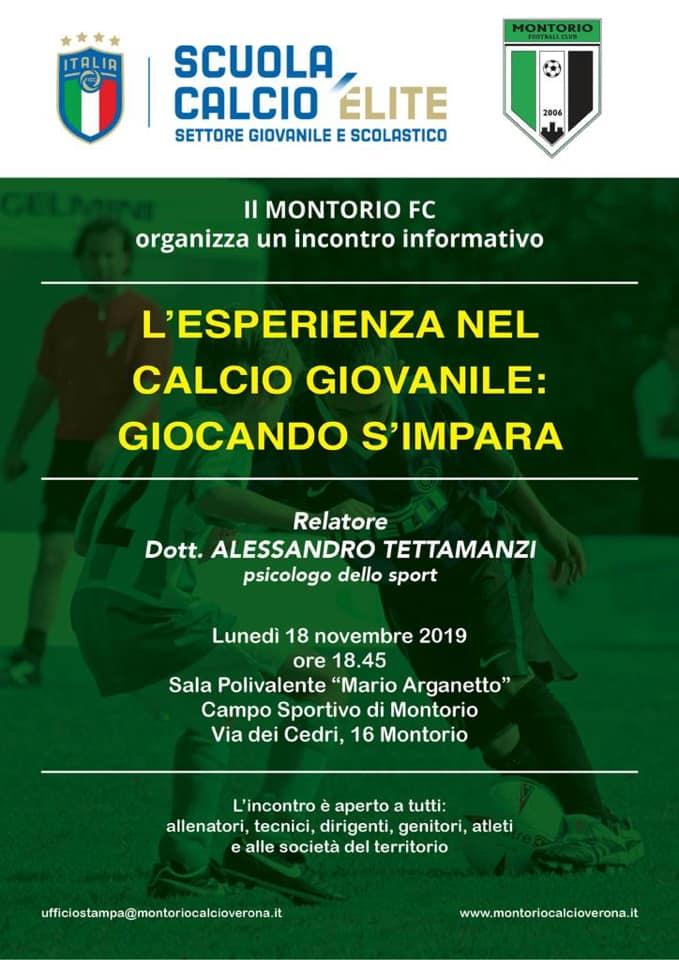 Montorio F.C. - Incontri formativi @ Campo Sportivo Montorio | Montorio | Veneto | Italia
