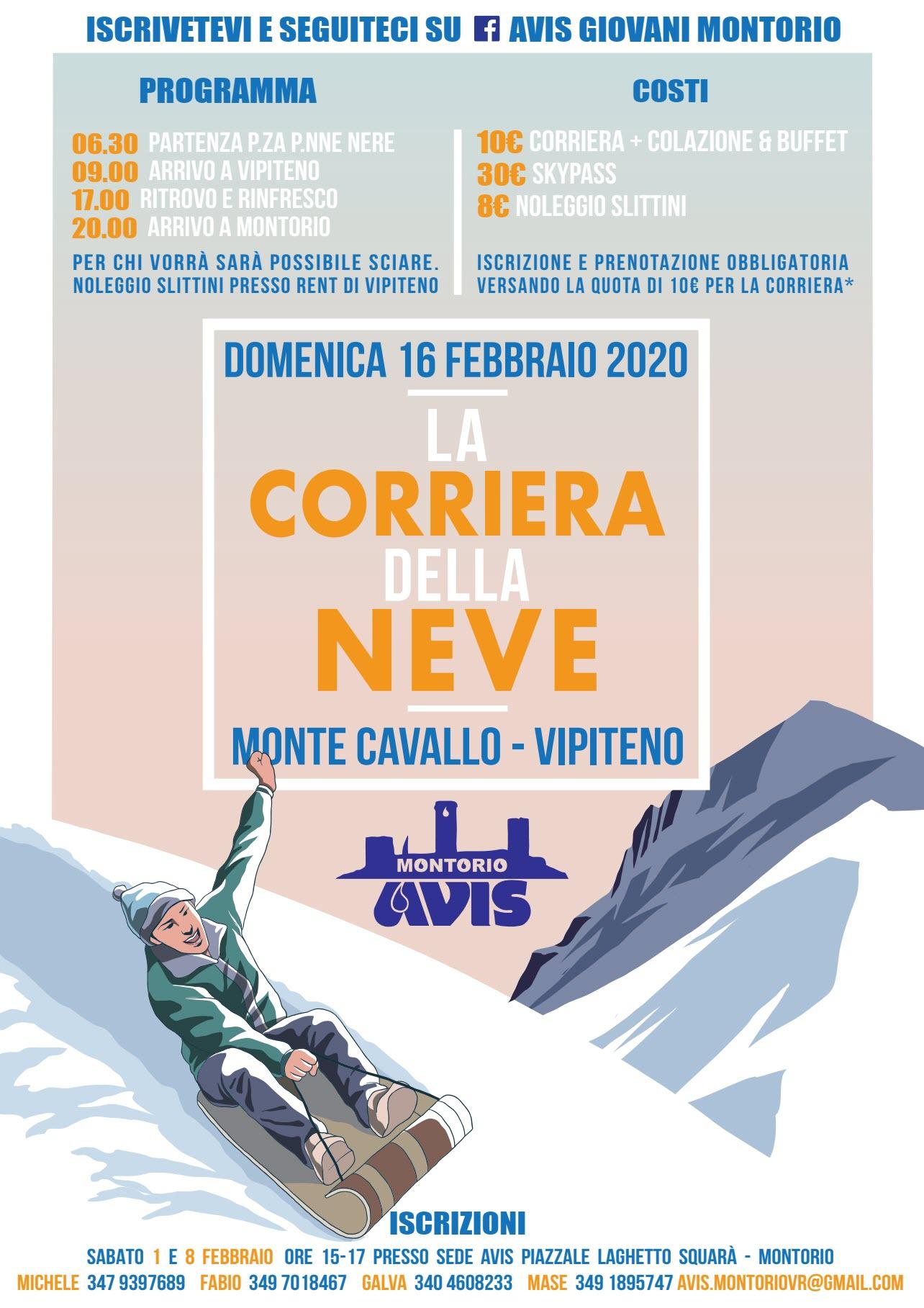AVIS - Corriera della neve 2020 @ Piazza delle Penne Nere | Montorio | Veneto | Italia