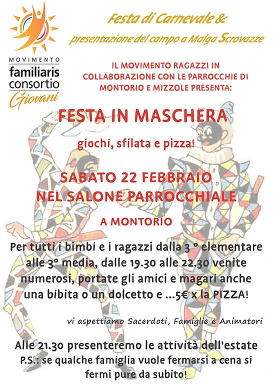 Festa di carnevale Movraga @ Salone Parrocchia di Montorio | Montorio | Veneto | Italia