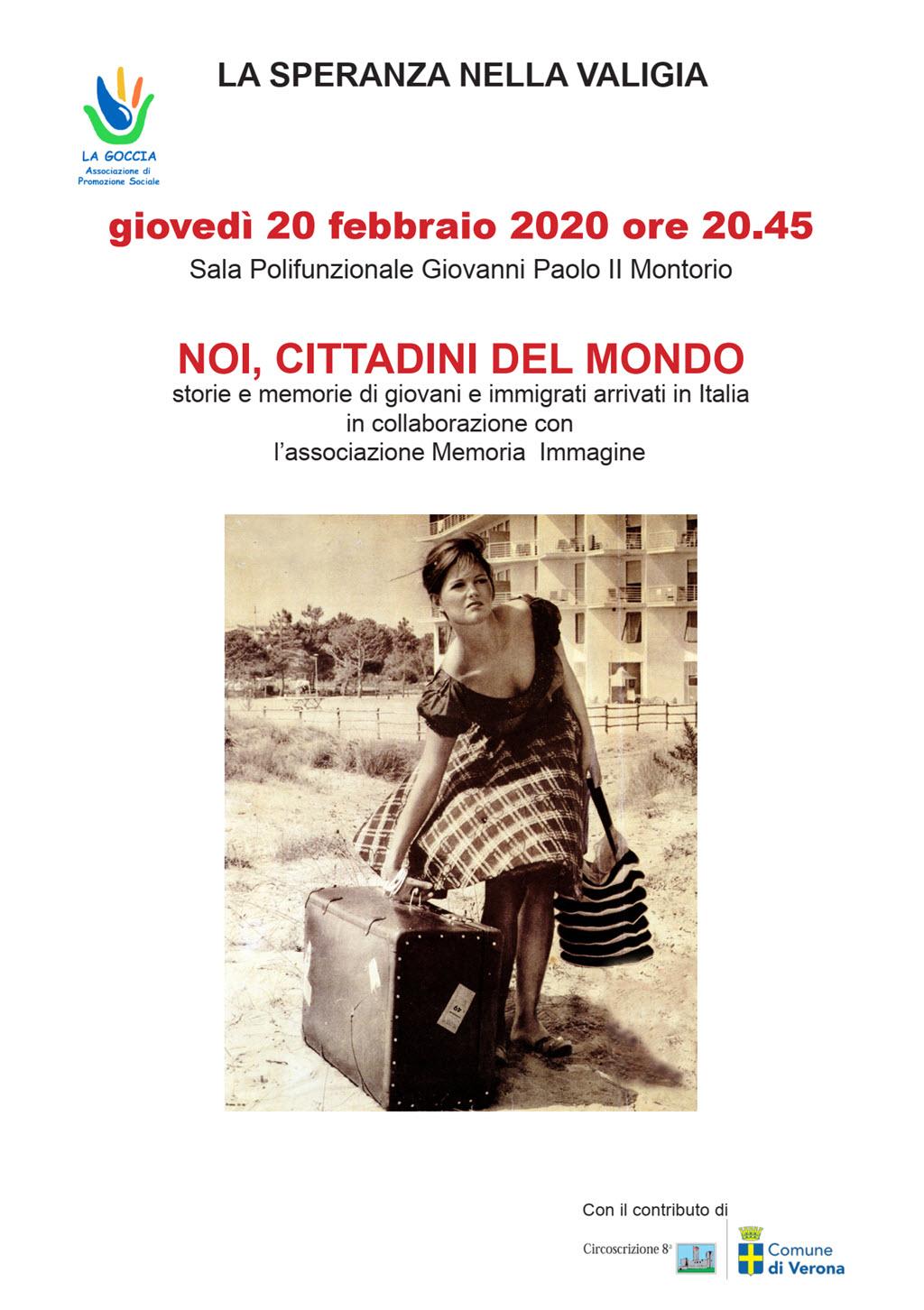 La speranza nella valigia: Noi cittadini del mondo @ Sala Giovanni Paolo II   Montorio   Veneto   Italia